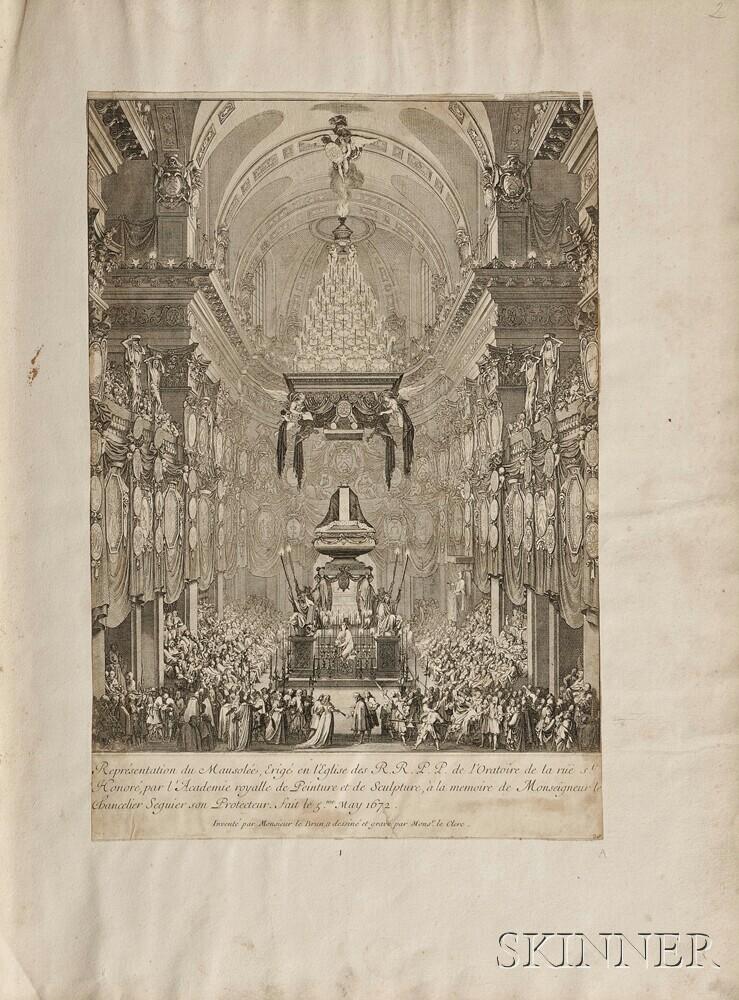 Leclerc, Sebastien (1637-1714) Album of Engravings.