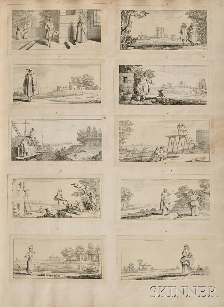 Leclerc, Sebastien (1637-1714) Album of Engravings.