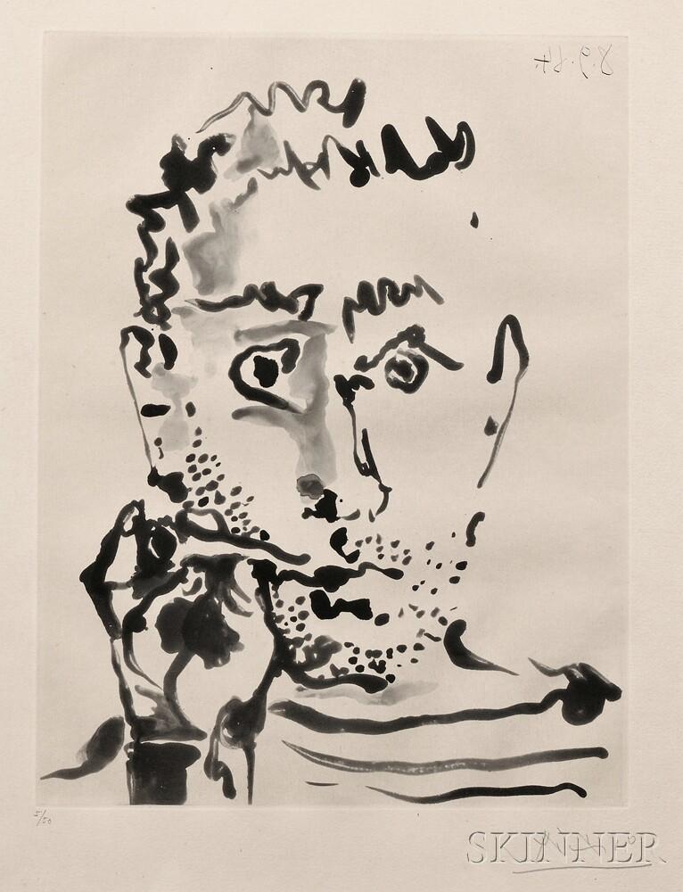 Pablo Picasso (Spanish, 1881-1973)      Fumeur. V