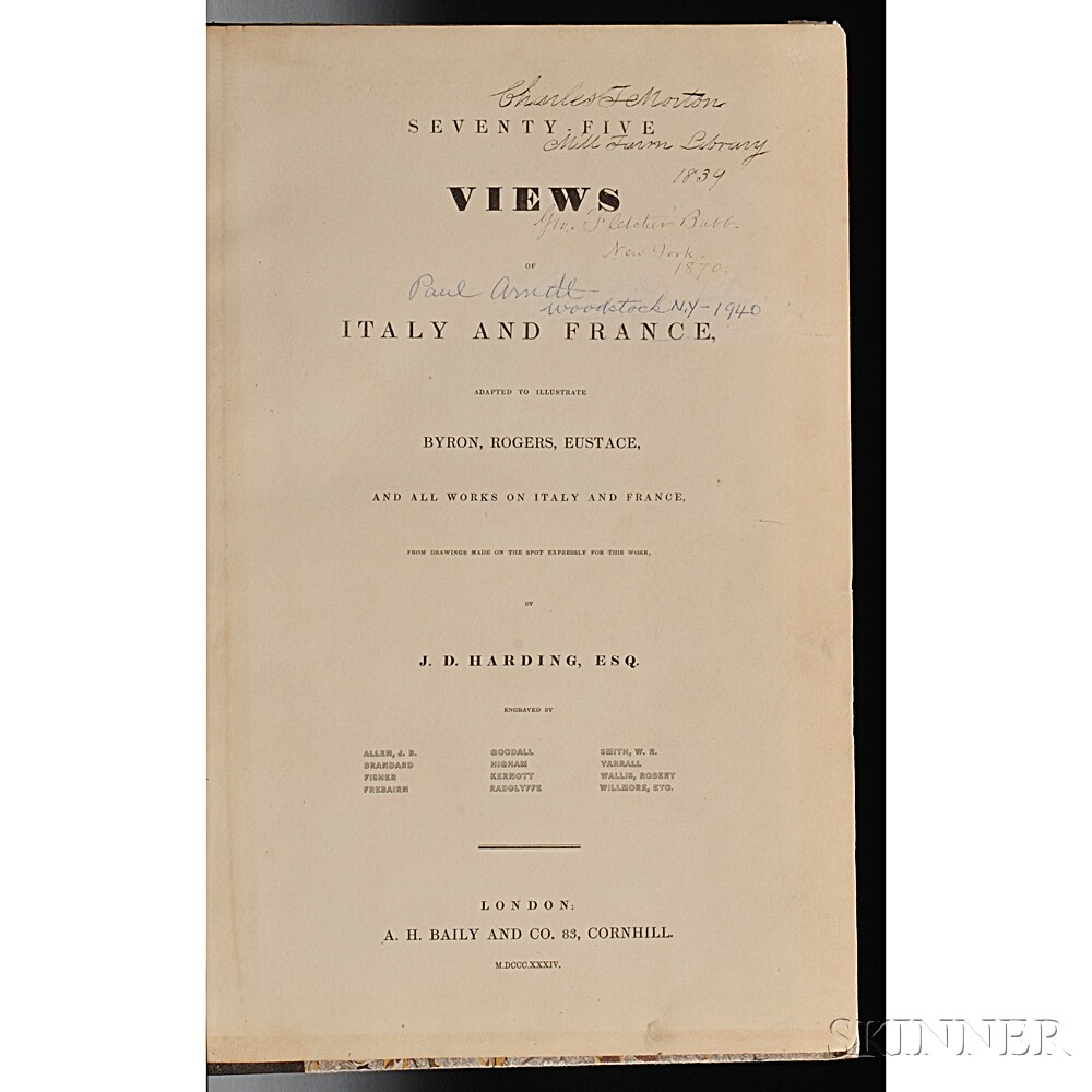 Harding, James Duffield (1798-1863) Seventy-five Views of Italy and France, Adapted to Illustrate Byron, Rogers, Eustace, and all Works