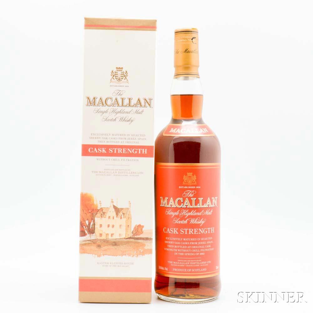 Macallan Cask Strength, 1 750ml (oc) bottle