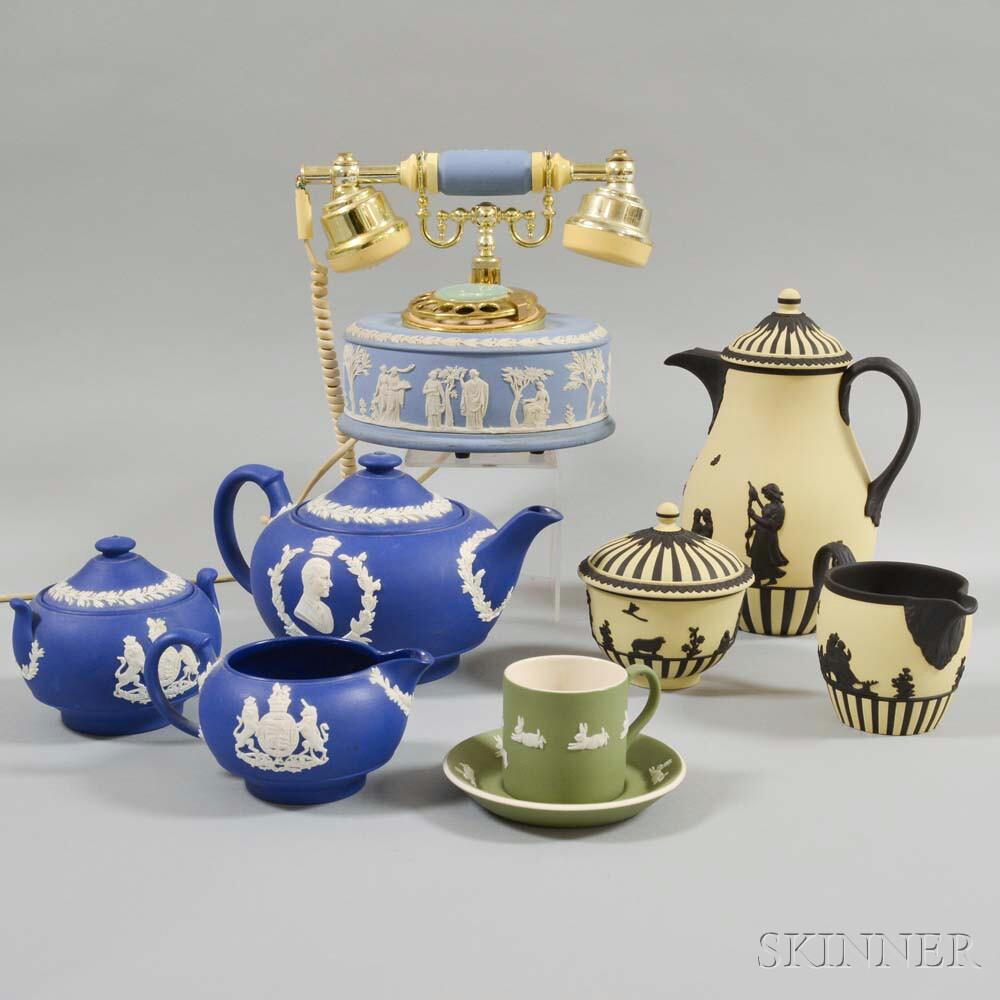 Nine Pieces of Modern Wedgwood Jasperware