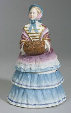 Parian-type Figural Trinket Box