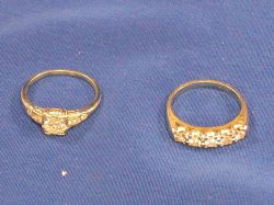 14kt Gold and Diamond Solitaire and 14kt Gold and Diamond Band.
