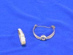 Two Woman's Baume and Mercier 14kt Gold Wristwatches