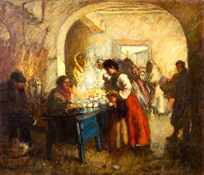 Augustus Koopman (American, 1869-1914)      At the Market