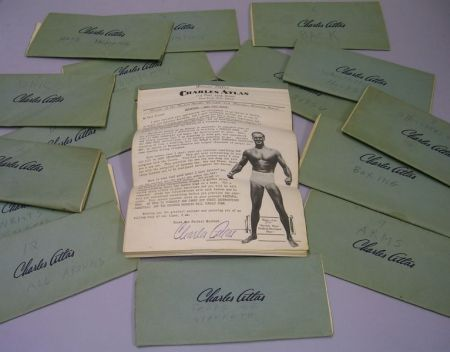 Set of Sixteen Charles Atlas Health, Strength, and Physique Building System   Pamphlets