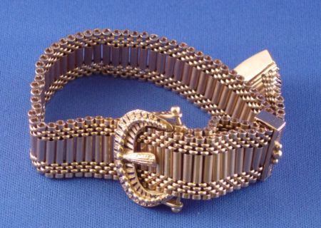 14kt Gold and Enamel Slide Bracelet