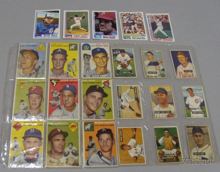 Twenty-three 1951, 1954, and 1982 Bowman and Topps Baseball Cards