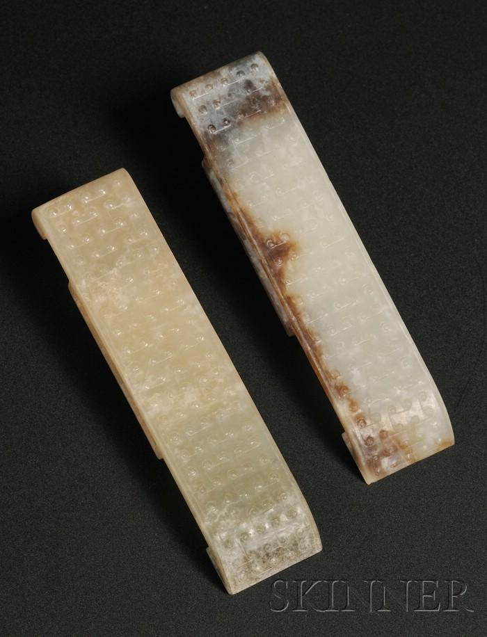 Pair of Jade Scabbard Slides