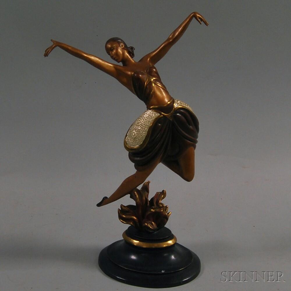 After Romain De Tirtoff, called Erté (Russian/French, 1892-1990)      La Danseuse.