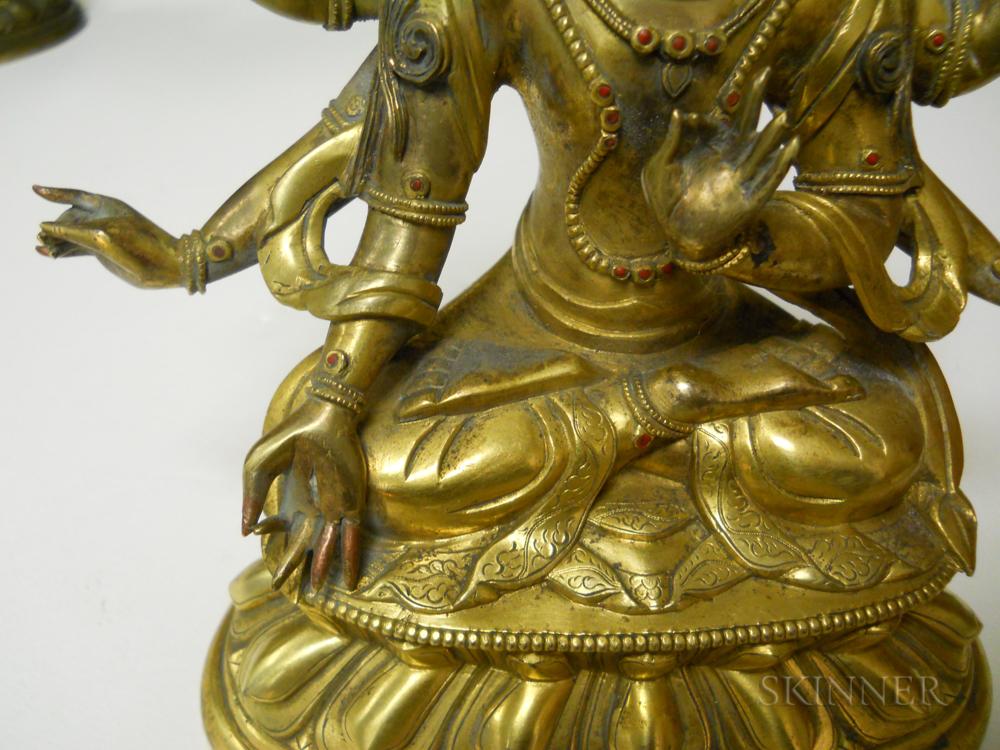 Gilt-bronze Figure of Six-armed Bodhisattva