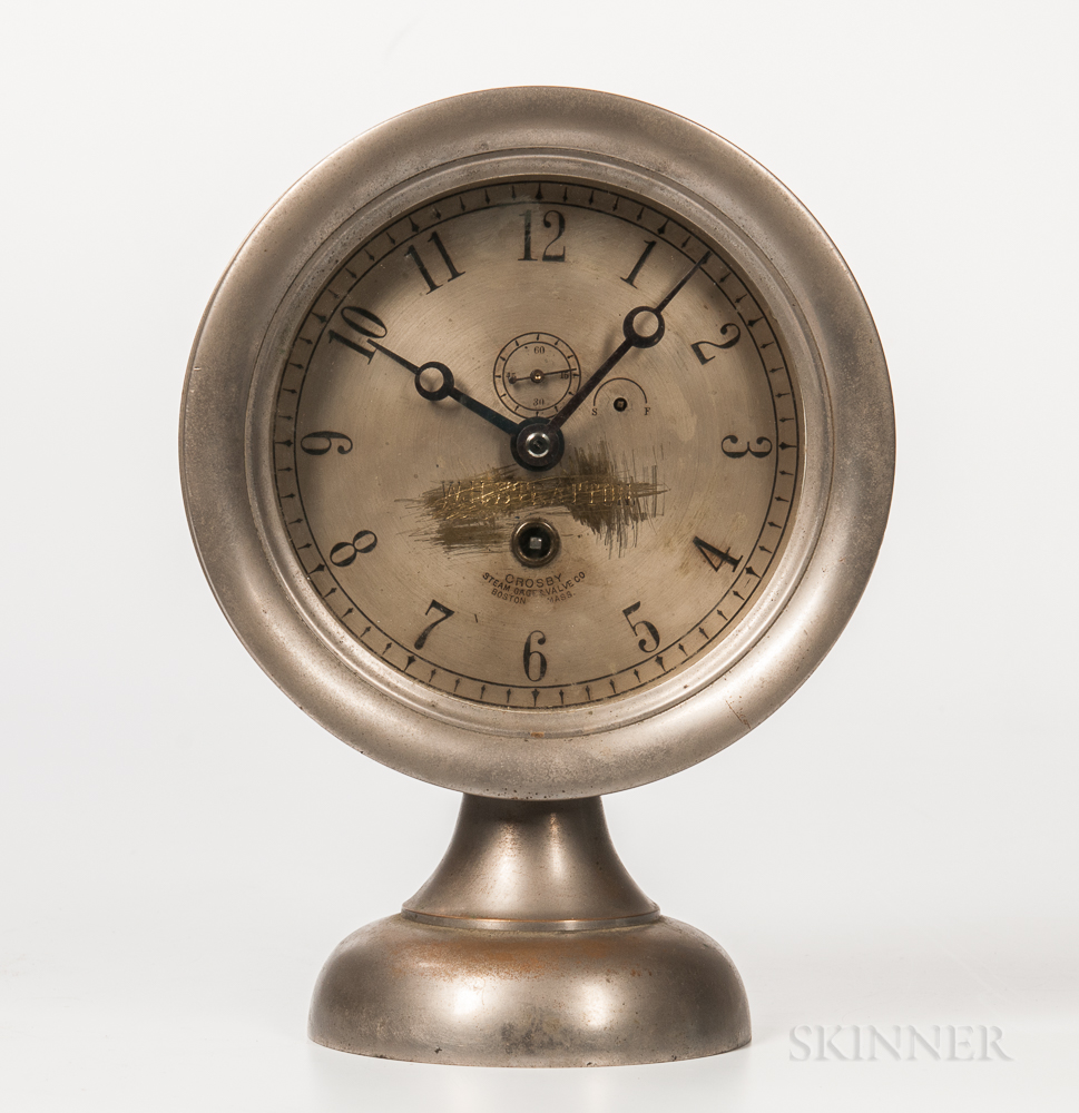 "Boston Clock Co. ""Crosby Steam Gauge"" Clock"