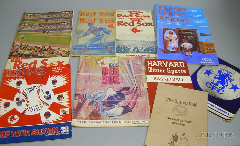Eleven American League Boston Red Sox Programs/Scorecards