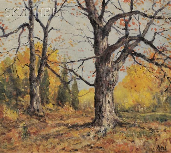 Henry Hammond Ahl (American, 1869-1953)      Late Autumn