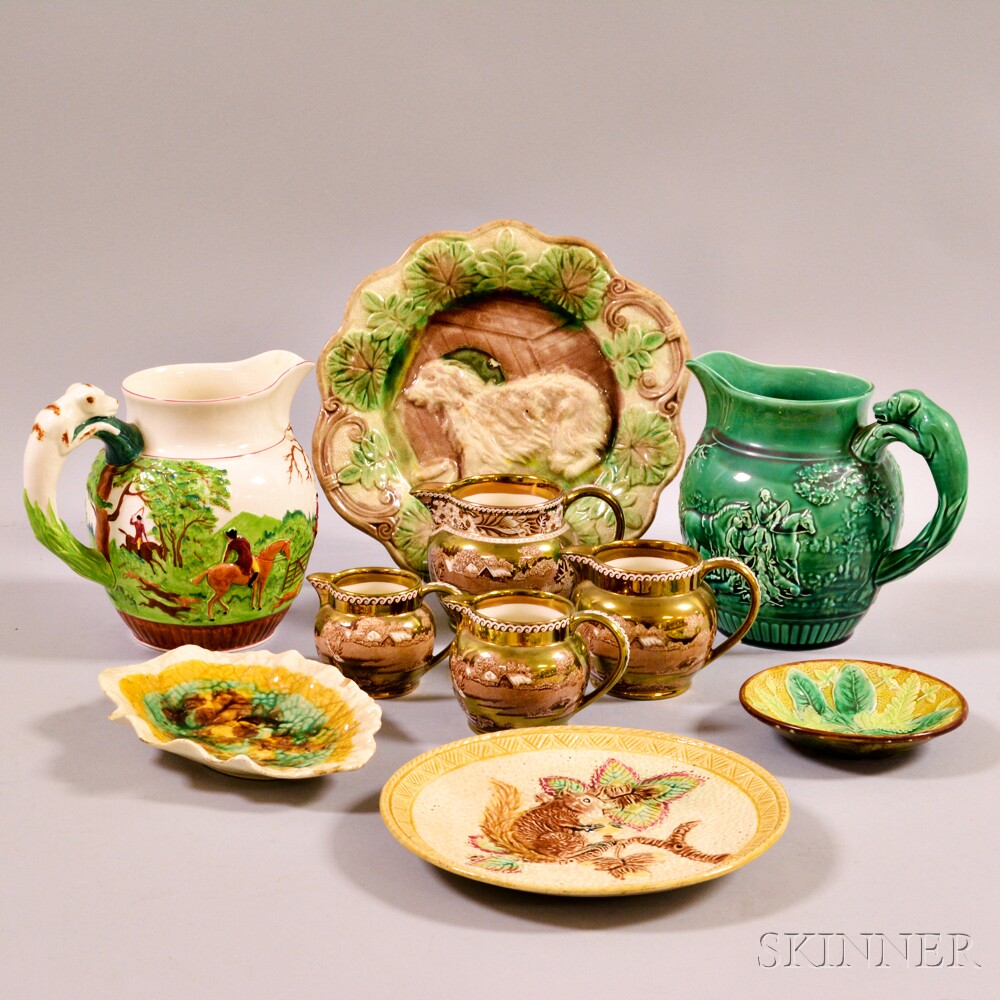 Ten Pieces of English Pottery