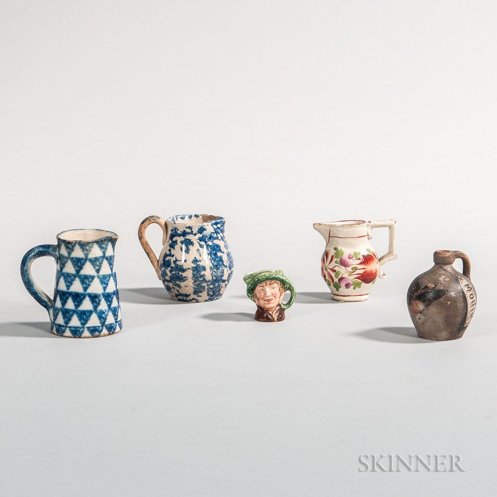 Five Miniature Pieces of Pottery