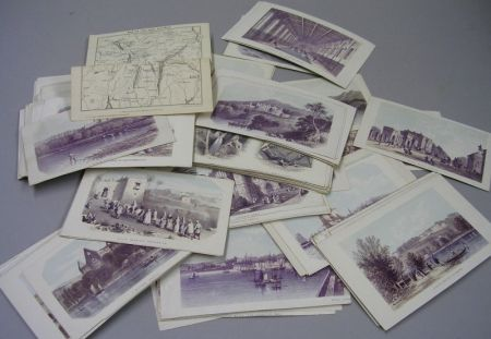 Collection of European Scene Lithographed Post Cards.Collection of European...