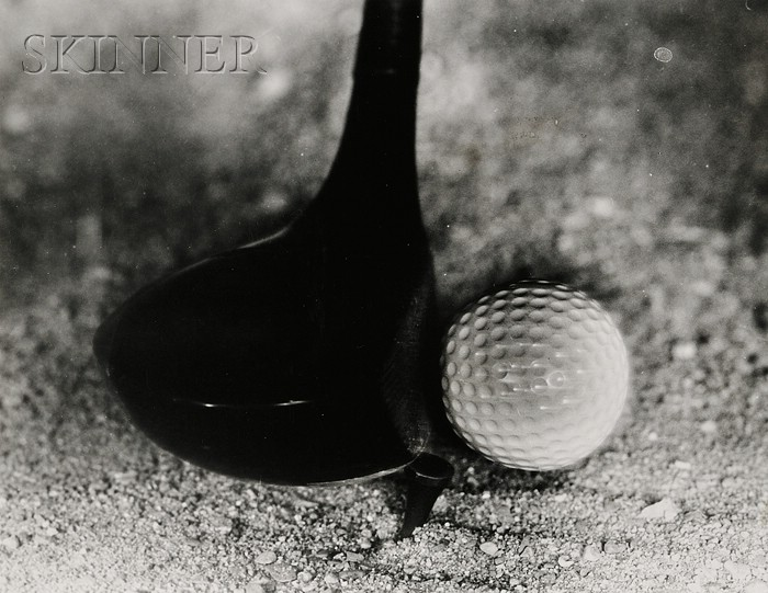 Harold Eugene Edgerton (American, 1903-1990)      Lot of Two Images of Golf Balls Hit by Drivers.