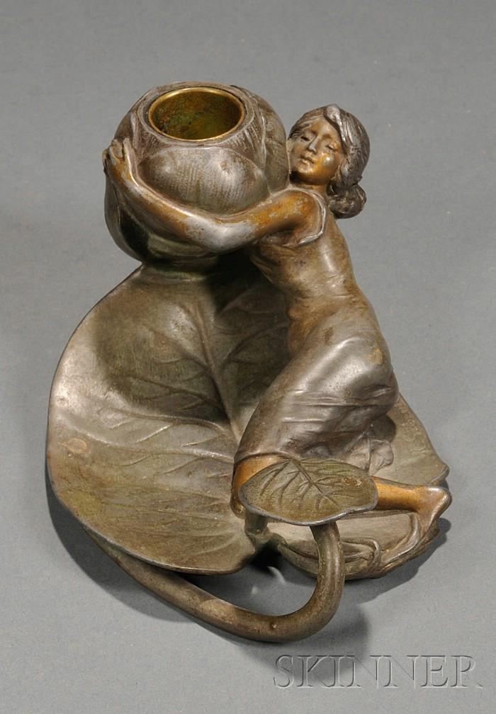 Art Nouveau Figural Candlestick