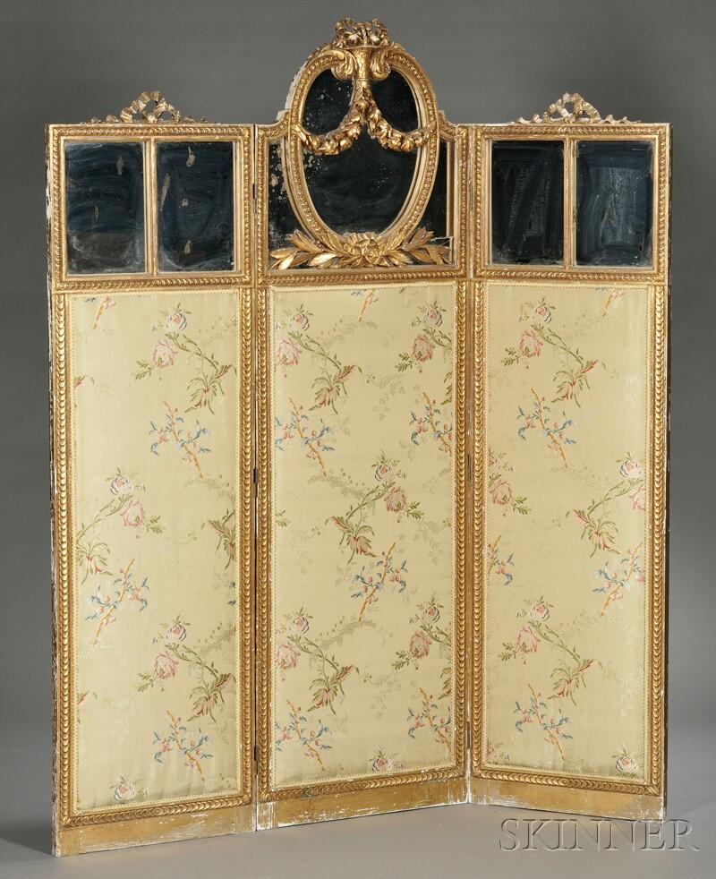 Louis XVI-style Three-panel Screen