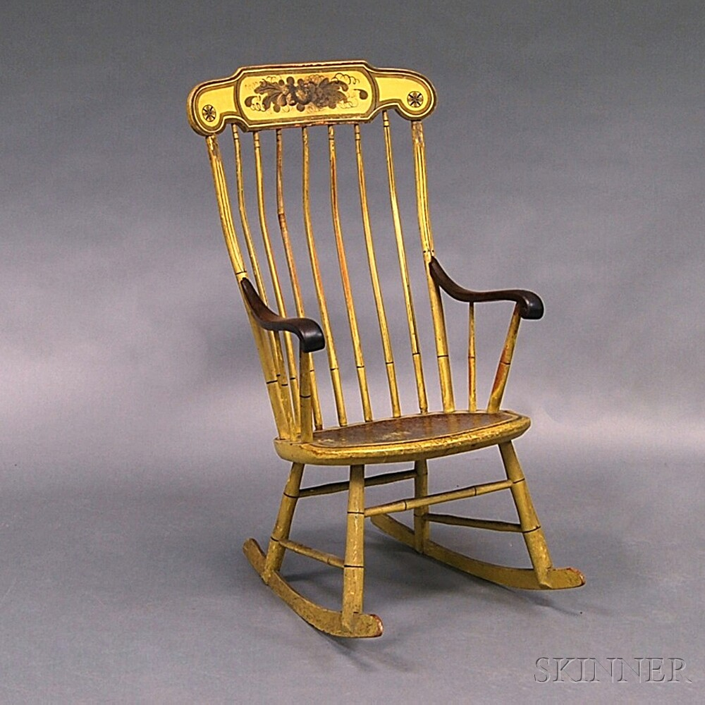 Paint-decorated Windsor Armed Rocker