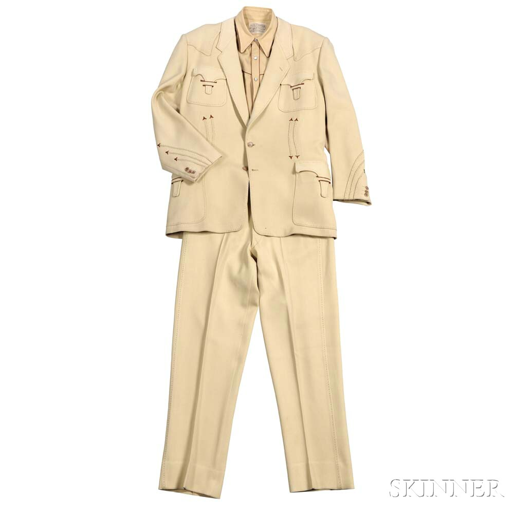 Beige Nudie Suit and Shirt