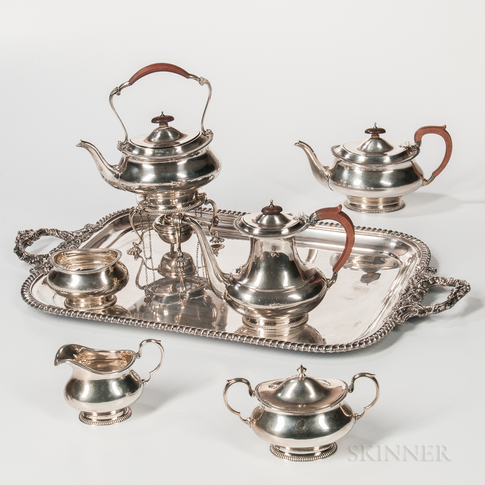 Six-piece George VI Sterling Silver Tea and Coffee Service