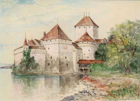 Frank Henry Shapleigh (American, 1842-1906)    Chateau de Chillon, Lake Geneva