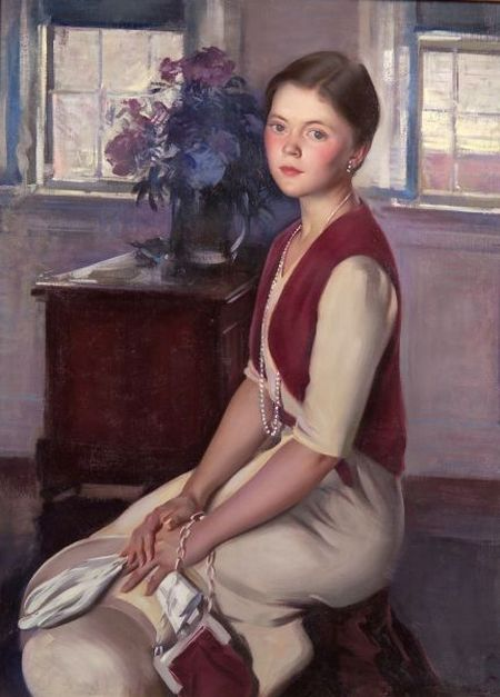Aiden Lassell Ripley (American, 1896-1969)    Satin and Pearls