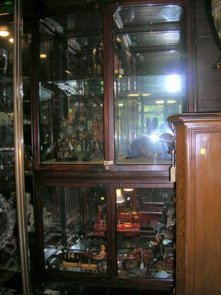 Edwardian Mahogany and Glass Two-part Shop Display Cabinet