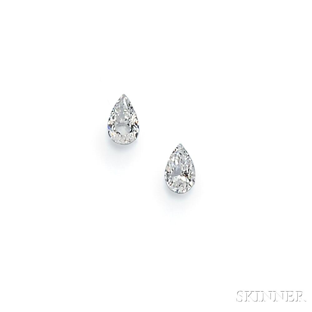 Pair of Unmounted Diamonds
