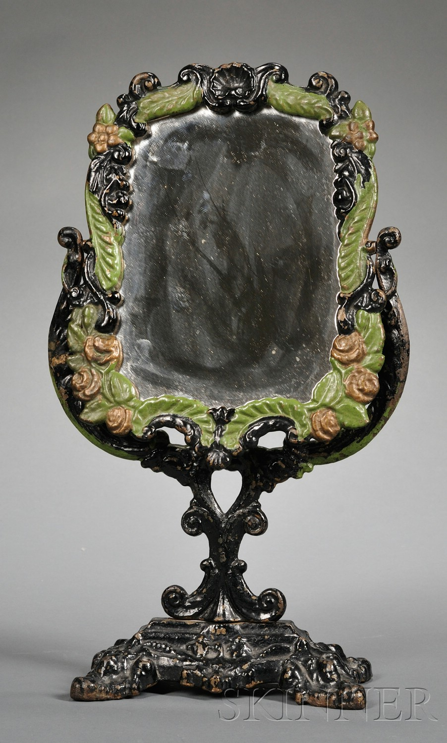 Painted Cast Iron Dressing Mirror