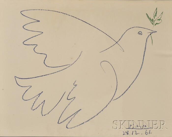 After Pablo Picasso (Spanish, 1881-1973)      Dove of Peace