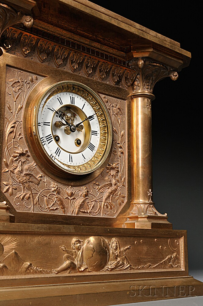 Bronze French Shelf Clock