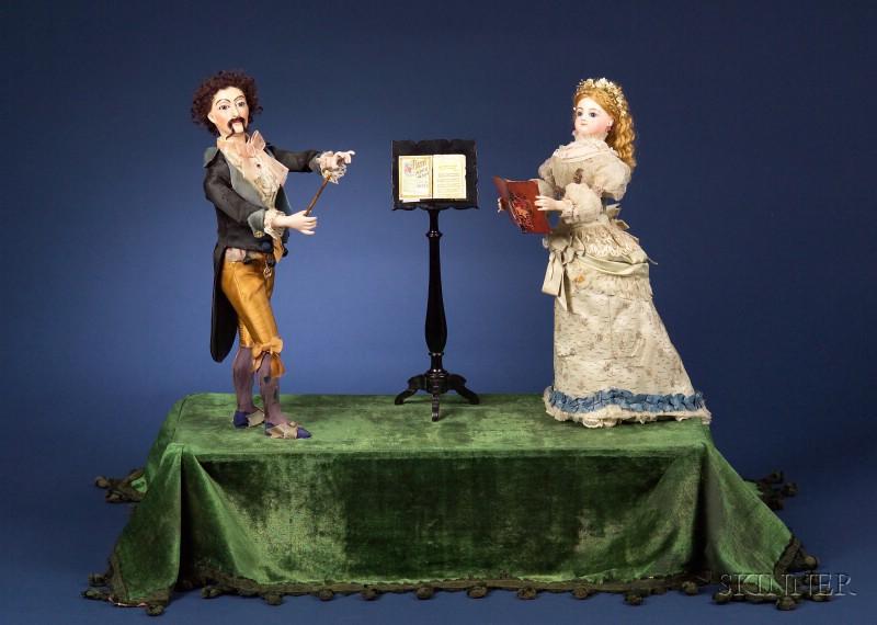 """Rare Lambert Automaton of """"La Lecon du Chante"""" (The Singing Lesson)"""