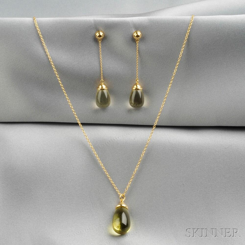 """18kt Gold and Lemon Quartz """"20 Carat"""" Suite, Paloma Picasso, Tiffany & Co."""
