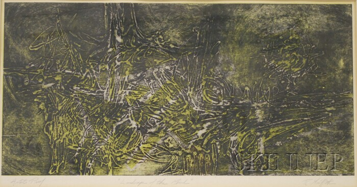 American School, 20th Century      Lot of Two Works: Untitled