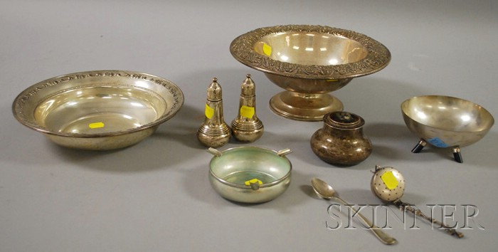 Group of Silver and Weighted Silver Table Items