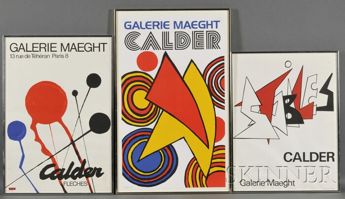 After Alexander Calder  (American, 1898-1976)      Lot of Three Galerie Maeght Exhibition Posters