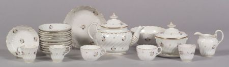 "English Porcelain ""Chantilly Sprig"" Partial Service"