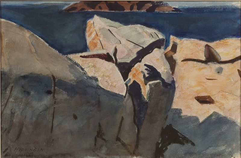 Charles Sydney Hopkinson (American, 1869-1962)      Harshly Lit Rocks (Sharksmouth Outcropping)