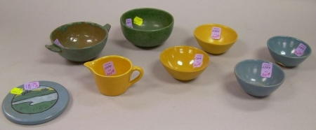 Eight Pieces of Paul Revere Pottery