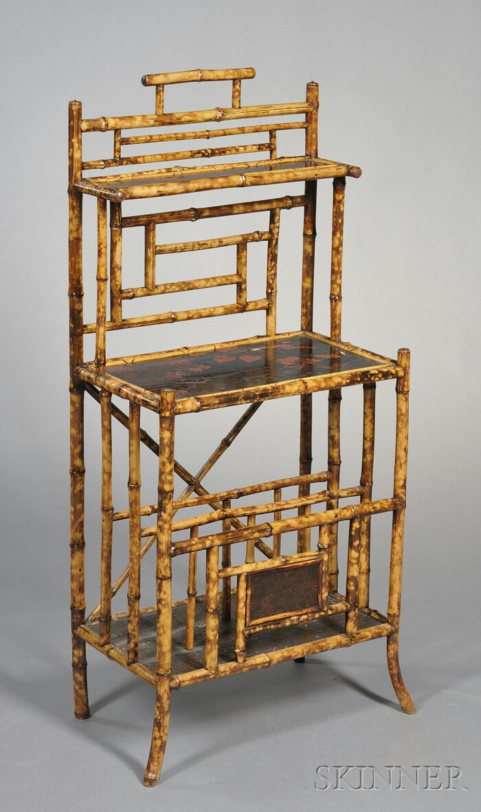 Victorian Bamboo and Lacquer Panel Stand