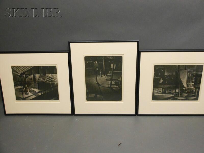William J. Behnken (American, b. 1943)      Three Nocturnes: Bronx Icon