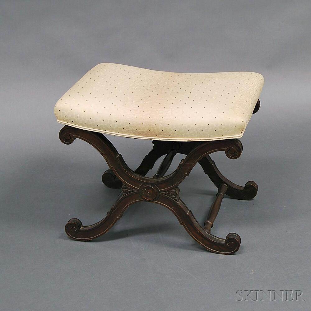 Classical-style Mahogany Footstool