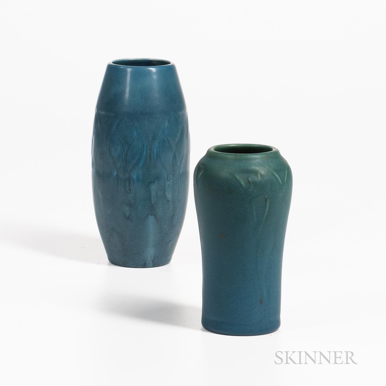 Two Rookwood Pottery Matte Glaze Vases