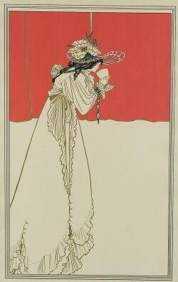 Three Framed Mixed-Media, Art Nouveau Images.