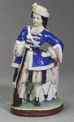 Large Porcelain Figural Trinket Box