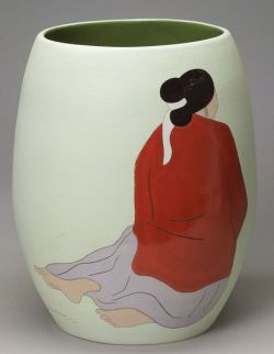 Large Contemporary Glazed Pottery Vase